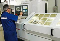 Operation of CNC lathe