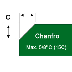 Chanfro max. 5/8''